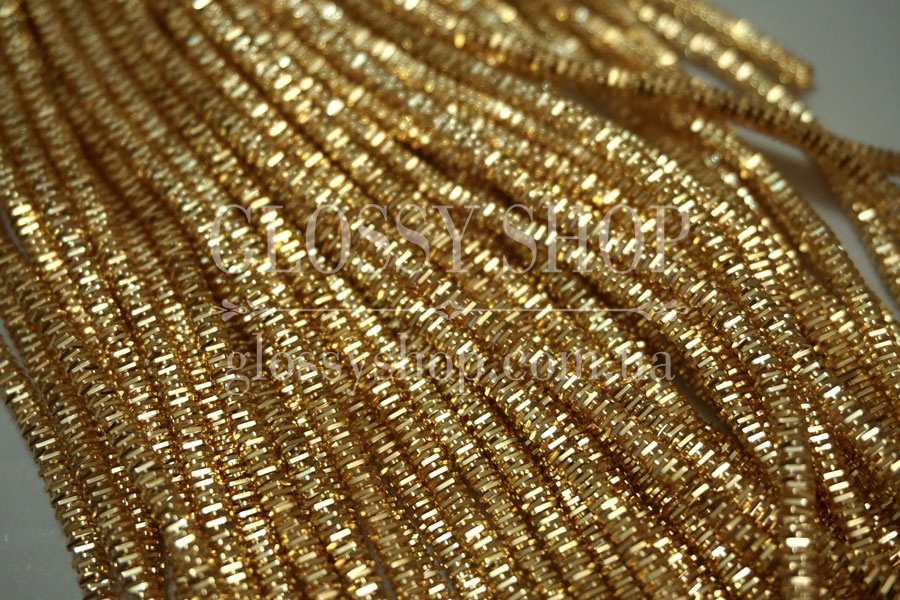 944758102d8f Канитель фигурная (трунцал) 3,5мм золото 50см   GLOSSY SHOP