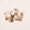 Пайетки круглые с отверстием сбоку жемчужный античная роза