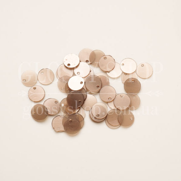 Пайетки круглые с отверстием сбоку купить