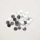 Пайетки круглые с отверстием сбоку темное серебро