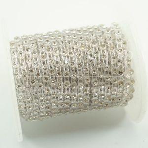 Стразовая цепь пластиковая купить в Киеве