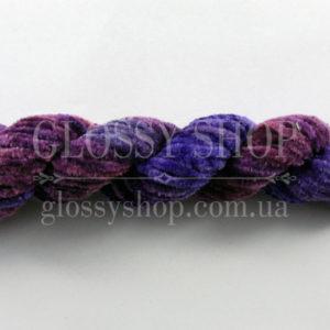Нитка синель шелковая сине-фиолетовая меланж