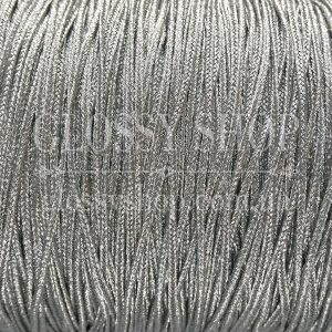 Сутаж металлизированный серебро