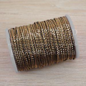 Бить гофрированная античное золото D