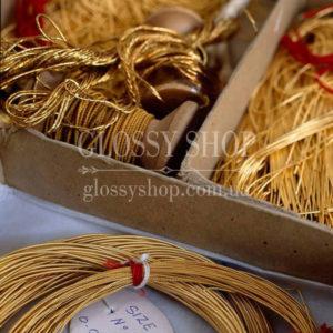 Канитель, бить, проволока и нитки для золотого шитья