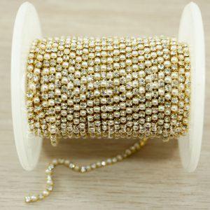 Стразово-жемчужная цепь купить Киев